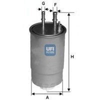 Ufı 24One01 Yakıt Filtresi Fıorıno-Doblo-Lınea 07=> 1.3Jtd-Punto Iıı 1.3Jtd-1.9Jtd-Stılo 1.9Jtd