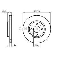 Bosch 0986478639 Ön Fren Aynası Nemo-Bıpper-Fıorıno-Doblo-Lınea-Albea-Idea-500-Debra-Mıto 15Jnt(257.5X22x4dlxhavalı)