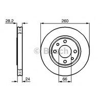 Bosch 0986478830 Ön Fren Aynası P406 1.6 İe (95-97)-1.8 16V (95-04)-1.9 Td (95-98) (260X24x4dlxhavalı)