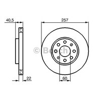 Bosch 0986479223 Ön Fren Aynası Corsa D 1.0 1.2 1.3Cdti 1.4(7.06>Garande Punto 1.2 1.3 Jtd 1.4 10.05>(257X22x6xhavalı