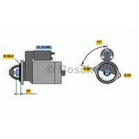 Bosch 0001107492 Marş Motoru 12V Astra 1.4 16V Vvtı 09=> (0001107408)