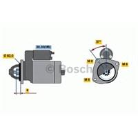 Bosch 0001109300 Marş Motoru Ducato-Boxer-Jumper 2.8 Hdı-Jtd 04=>