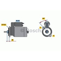 Bosch 0001110133 Marş Motoru 12V 1.7 Kw Transporter T4 2.4 D-2.5-2.5 Tdi (90-03)