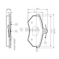 Bosch 0986Tb2004 Ön Balata İnce Golf Iı Iıı Polo Classıs 95=> Passat Cordoba Caddy (95/1.04)