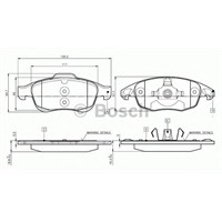 Bosch 0986Tb2949 Ön Balata C4 Pıcasso 1.6 Hdı 110Hp -Partner Tepe-Berlıngo 08=> 5008 09=>
