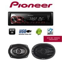 Pioneer Mvh-180Ub + Roadstar Hoparlör Seti 1