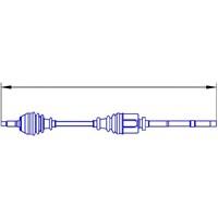 Gsp 210036 Aks Sag Komple Boxer-Jumper-Ducato (Dıs Freze:28 Ic Freze:41 Boy:1079 Mm) Dj5-Dj5t-Dj5ted-Xud9-2,5 Duz-2,5Td 1400Kg(15-Jant) Abslı:54 Dıs (01-06)