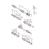 Gsp 203246 On Aks Komple Sag Transporter T5 1,9Tdı 03- (Tek.Tarafı Dıs Dısl.: 38, Dıf.Tarafı Dıs Dısl.: 26, Conta Capı: 63 Mm, Uzunluk: 858 Mm) (Gkn 304443)