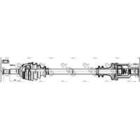 Gsp 250370 On Aks Sag Logan-Sandero 1,5Dcı 04-> (Dıs Freze:23-Ic Freze:23-Uzunluk:765)