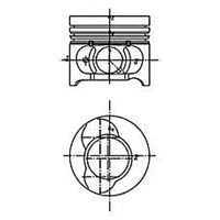 Iss 877185910000Ag Motor Pıston Segman Clıo - Kangoo 1,5Dcı Megane Iı 80 Hp K9k (76,00Mm) (100Mm) (Pım Capı 26Mm) (100)