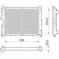 Valeo 811073 Radyatör Tmpr 1.4İe-1.6İe-1.9D-Tıpo 1.7D-1.9D