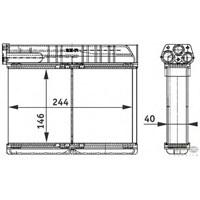 Behr 8Fh351311791 Marka: Bmw - E36 - Yıl: 90-99 - Kalorifer Radyatörü - Motor: Bm