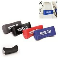 Sparco Spc Ortopedik Seyahatyastığı Siyah Deri-Beyaz (Logo) Spc4004