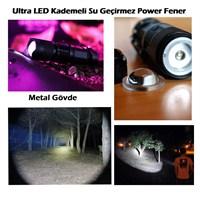 Autocet Ultra Led Kademeli Su Geçirmez Power Fener