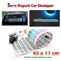 Autocet Müziğe Sese Duyarlı Car Ekolayzır Şerit ( 45 X 11 )