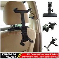 Dreamcar Ipad 2 İçin 360 Derece Döner Koltukarkası Tutucu Aparat 01622