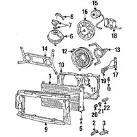 Bsg 90922017 Fan Ayağı - Marka: Vw - T4 - Yıl: 97-04 - Motor: Bm
