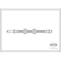 Corteco 19032848 Fren Hortumu : Ön - Marka: Mercedes - W638 Vıto - Yıl: 97-04
