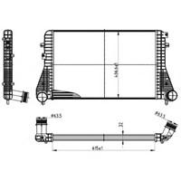 Bsg 90535010 İntercooler Radyatörü - Marka: Vw - Golf6/Caddy3/Jetta3-4 - Yıl: 09-