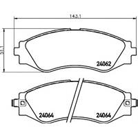 Sangsın Sp1103 Ön Balata Chevrolet Epıca 2.0-2.5 05=>Evanda 2.0 05=>Daewoo Evanda 2.0 02=>(Gdb3345-Gdb3347-Gdb3171)