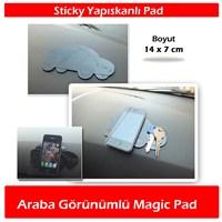 AutoCet Araba Şeklinde Yapışkanlı Magic Pad Siyah
