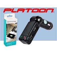 Platoon Pl-9240 Araç Oto Bluetooth Fm Transmitter Çakmak Şarj Aleti Araç Kiti