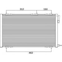 Valeo 818000 Klima Kondenseri 206 07> 1.4-1.6 16V-1.4Hdı-2.0Hdı (556X364x16)