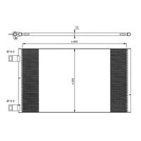 Kalexc 342550 Klıma Kondenserı Kng - Grand Kng-Express-Mıtsubıshı Colt-Mercedes Benz Cıtan Box (Al-Al)