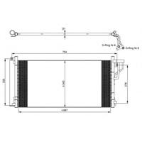 Zzastron 1400828 Klıma Kondenserı Hyundaı Sonata V-Magentıs (693X341x16)