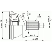 Anka 20200010 Aks Kafası Dıs Polo (99-08)-Fabıa 1.4-1.4 16V 99=> Ibıza V 08=> Ibıza Iv (02-08)-Cordoba 02=>
