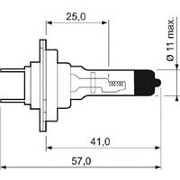 Marellı 002537100000. Ampul H7 12V 55W Long Lıght (Uzun Isık)