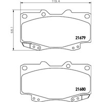 Sangsın Sp1375 Ön Balata Toyota Hılux Pıckup 2.5D-4D 4Wd 01=> (Gdb3428)