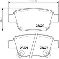 Bosch 0986Tb2464 Balata Fren Arka-(Toyota: Avensıs 03>08 1.6/Corolla-Verso 04>07 )