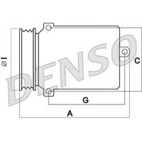 Denso Dcp17026 Klıma Kompresöru Mercedes Sprınter 09=> C Serı (W203) (00-07)-Clk (C209) (02-10) (215X138) (6 Kanal)