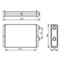 Orıs 46723042 Kalorıfer Radyatöru Brazıng Doblo 01>Punto 01>Idea 04>(Ac+Klımasız) (210X156x32)