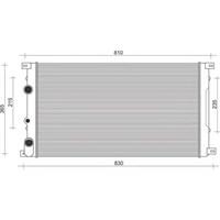 Gva 3119101 Radyatör Movano-Master Iı (99-01) 1.9-2.2-2.5-2.8 Dt (Ac+Mek) (728X414.5X27)