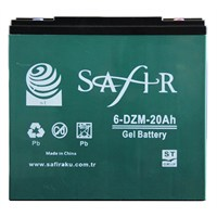 Safır Jel 12V 20 Amp Batarya