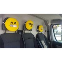 Emoji Boyun Yastığı Sarı No:4 Çap:25Cm 250Gr