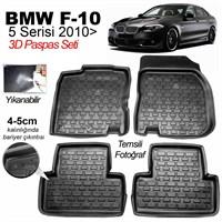 3D Paspas Bmw 5Seri 2014 Sonrası F10 Uyumlu Siyah
