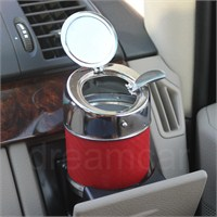 Dreamcar Metal Küllük Kırmızı Karbon Otomatik Kapaklı 0700903