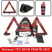 ROTACAR TST801B ÜÇGEN LÜKS TRAFİK SETİ 2918 YÖNETMELİK UYUMLU İLK YARDIMLI
