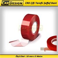 CarDesign Çift Taraflı Şeffaf Bant 10 mm x 5 Metre