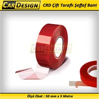CarDesign Çift Taraflı Şeffaf Bant 50 mm x 5 Metre