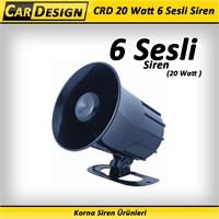 CarDesign 20 Watt 6 Sesli Siren