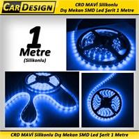 CarDesign MAVİ Silikonlu Dış Mekan SMD Led Şerit 1 Metre