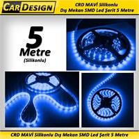 CarDesign MAVİ Silikonlu Dış Mekan SMD Led Şerit 5 Metre