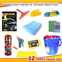 AutoCet Oto Yıkama ve Temizlik Bakım Seti S:3 (12 Parça FULL Paket)