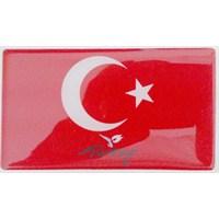 ModaCar Motorsiklet Türk Bayrağı PVC Damla Kabartma 75d019