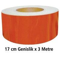 ModaCar 17 cm Genişlik X 3 METRE TURUNCU Fosfor Şerit 54d059