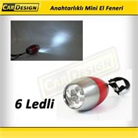 CRD 6 LEDLİ Metal Anahtalı El Feneri